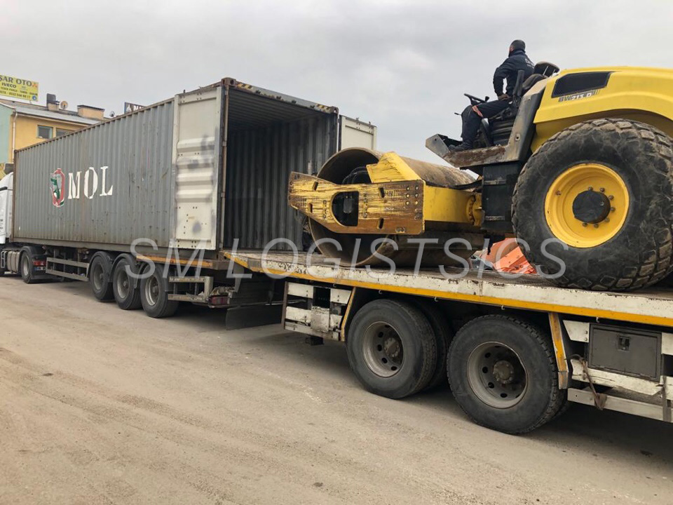 Loading Roller into container40'